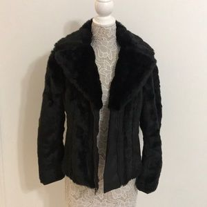 Kenneth Cole faux fur jacket